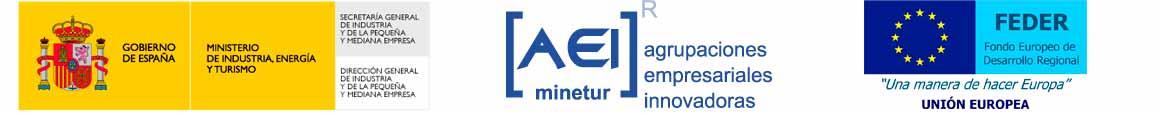 por el Ministerio de Industria, Turismo y Comercio (MYTIC) y cofinanciado por FEDER (UE), dentro del             programa de apoyo a las AEI, para contribuir a la mejora de la competitividad de la industria española.